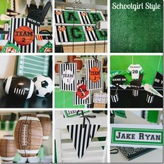 """If you keep up with Schoolgirl Style, you might remember my friend, Heidi. Heidi teaches 1st grade at Myers Elementary in Grand Blanc, Michigan. Heidi loves to decorate her classroom with a different theme every year, and this year she was completely inspired by my Sports/Team classroom theme! Check out The Totally Teamwork post HERE: http://www.schoolgirlstyle.com/2012/10/totally-teamwork/ Heidi loved the whole """"team"""" concept and thought it would be perfec..."""