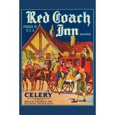 "Buyenlarge 'Red Coach Inn Celery' Vintage Advertisement Size: 30"" H x 20"" W"