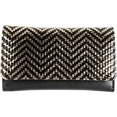 Avenue Hologram Chevron Wallet (47 ILS) ❤ liked on Polyvore featuring bags, wallets, gold, plus size, chevron bag, chevron print bags, flap wallet, tri fold wallet and flap bag