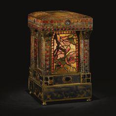 """Tiffany Studios/Sotheby's/rare """"magnolia"""" boudoir lamp circa 1900"""