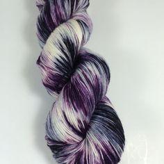 Simple Sock, Sock Yarn, Hand Dyed Yarn, Superwash Merino,Nylon, Hand Painted Yarn, Fingering Yarn, Beetlejuice, Yarn