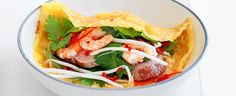 Vietnamese Crispy Pancakes with Nuoc Cham Sauce recipe, bought to you MiNDFOOD.