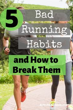 Runners often fall into some bad habits that can have a negative impact on their running. Here are five bad running habits, with tips on how to avoid them. Running Routine, Running Workouts, Running Tips, Running Plan, Mens Running, Running For Beginners, How To Start Running, How To Run Faster, Running Training Programs