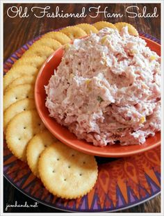 Ham Salad is my favorite way to use up leftover ham. For a delicious treat, serve this Ham Salad with butter crackers and slices of Swiss cheese. It is crazy delicious. Ham Salad Recipes, Pork Recipes, Appetizer Recipes, Cooking Recipes, Appetizers, Family Recipes, Cooking 101, Recipies, Cooking Classes