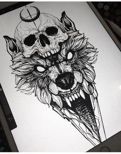 Cat Tattoo Face - Back Tattoo Drawings - - - Tattoo Ideen Fuss - Wolf Tattoos, Skull Tattoos, New Tattoos, Body Art Tattoos, Girl Tattoos, Sleeve Tattoos, Tattoos For Guys, Tatoos, Animal Tattoos