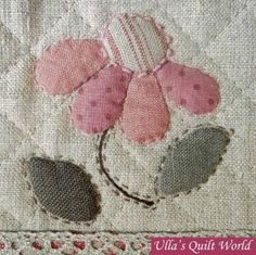 Japanese Embroidery Flowers Ulla's Quilt World: Quilt bag - Japanese patchwork Patchwork Quilting, Applique Quilts, Embroidery Applique, Hand Quilting, Embroidery Books, Sashiko Embroidery, Crazy Quilting, Quilt Block Patterns, Applique Patterns