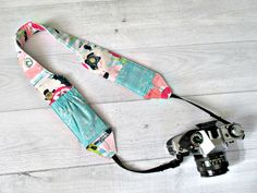 Pocket Camera Strap. Padded Fabric Camera by JanieLaneStudio