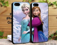 Disney Frozen Anna and Elsa Couple Case Love design iPhone 4/4s, iPhone 5/5s/5c, Samsung Galaxy S3/ S4 Case