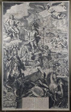 Pierre LANDRY (1630? – 1701) - ALMANACH DE L'ANNÉE 1691 FIGURANT LOUIS XIV EN [...], Tableaux Anciens - Gravures - Argenterie - Arts de la Table - Objets d'Art - Haute Époque - Mobilier XVIIIe et XIXe à Eric Pillon Enchères | Auction.fr