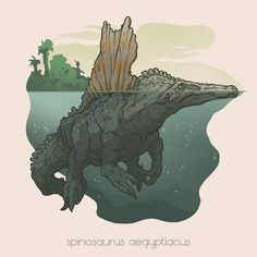 ART by BENJAMIN MACKEY — My personal spin on various species of dinosaurs! | Spinosaurus aegypticus