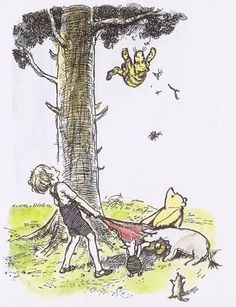 EH Shepard's Winnie the Pooh drawings are so emotive with their delicate style and subtle colouring