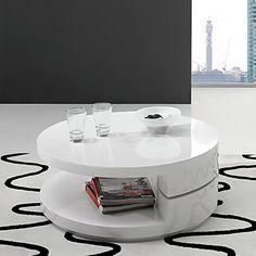 233,50€ VentaMuebles - Mesa de centro giratoria cube blanco: Amazon.es: Hogar