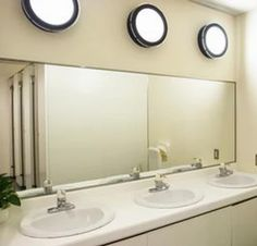 Beautiful dual pane mirror installation. See more at www.framelessglassaz.com