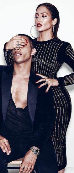 Jennifer Lopez X Balmain for Paper Magazine Sept 2015