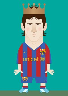 Image of King Lionel (Classic) - Leo #Messi by stanley chow