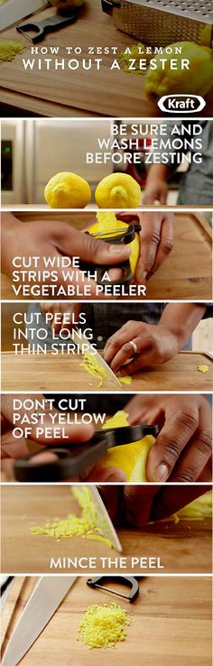 How To Zest A Lemon Without A Zester – Learn how to sprinkle on amazing citrus flavor with this tutorial for Zesting a Lemon Without A Zester!