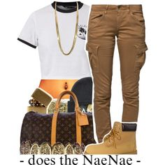 *hits that nae nae* by lulu-foreva on Polyvore featuring polyvore, fashion, style, G-Star Raw, Timberland, Louis Vuitton, In God We Trust and xO Design
