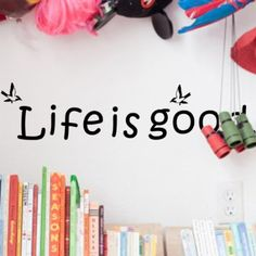wall stickers decor -YYone Life is Good Inspiration Quote with Birds Removable Wall Decal Decor Wall Sticker