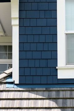 Navy Blue Siding or Shake would make any Home stand out!