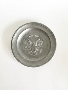 1776 -1976 Bicentennial Eagle Pewter Plate ~ Patriotic Memorabilia / Office Decor / Dad Gift / Bicentennial Collectible Plate by AtoZCherishedVintage on Etsy