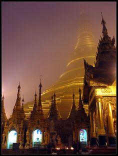 shwedagon in the mist