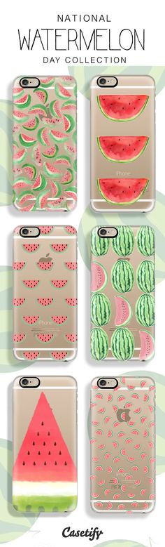 Celebrating National Watermelon Day with a slice of these designs. Sho them to celebrate together: www.casetify.com/...