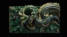 "Pair of Ming Glazed Terracotta Temple Wall Tiles Depicting a Dragon - X.0269 Origin: China Circa: 1368 AD to 1644 AD  Dimensions: 15.25"" (38.7cm) high x 48"" (121.9cm) wide  Collection: Chinese Style: Ming Dynasty Medium: Glazed Terracotta  £54,000.00  Location: Great Britain"