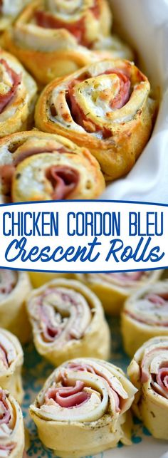Make dinner easy and your family happy with these delicious Chicken Cordon Bleu Crescent Rolls! Just a handful of ingredients and about 20 minutes, and you've got a fantastic and satisfying meal on the table! // Mom On Timeout