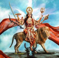 Hanuman Images, Durga Images, Lord Krishna Images, Indian Goddess Kali, Goddess Art, Durga Goddess, Maa Durga Image, Durga Maa, Shiva Art