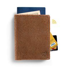 Woolet Travel XL Brown - slim, smart wallet