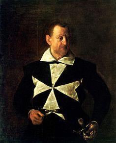 Caravaggio (1573–1610). Portrait of Fra Antonio Martelli, Cavaliere di Malta, 1608