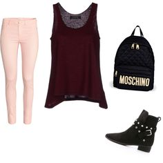 Untitled #25 by tania-liset-marmo on Polyvore featuring polyvore fashion style Kristina Ti H&M See by Chloé Moschino