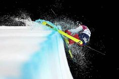 Annalisa Drew of the United States crashes in the freestyle skiing ladies' ski halfpipe finals. | The 33 Most Awe-Inspiring Photos From The Sochi Winter Olympics