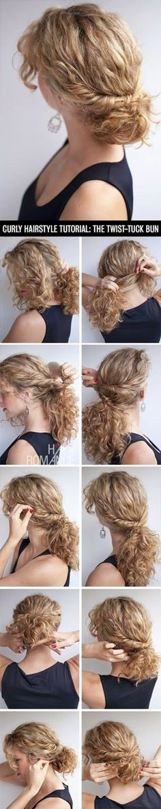 hairstyle ideas for girls with curly hair (prom updos)