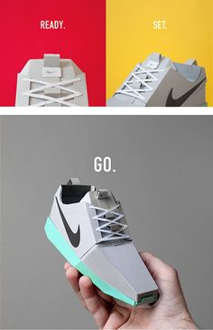 PAPER SNEAKERS by Joe Bowers, via Behance
