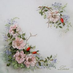 Wonderful Ribbon Embroidery Flowers by Hand Ideas. Enchanting Ribbon Embroidery Flowers by Hand Ideas. Silk Ribbon Embroidery, Crewel Embroidery, Cross Stitch Embroidery, Embroidery Patterns, Embroidery Supplies, Ribbon Art, Diy Ribbon, Ribbon Crafts, Band Kunst