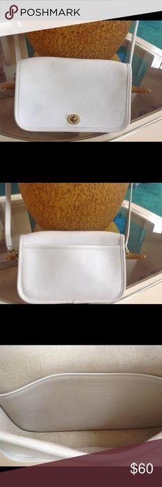 "LOVELY WHITE COACH HANDBAG LOVELY WHITE COACH HANDBAG, SHOULDER STRAP 45"" Coach Bags Crossbody Bags"