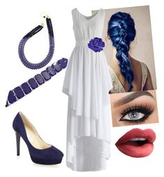 """Blue & White I"" by sobriquetstreamer ❤ liked on Polyvore featuring Chicwish, Jimmy Choo and Chanel"