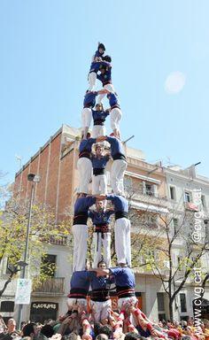Castellers de la Vila de Gràcia, Barcelona, Spain