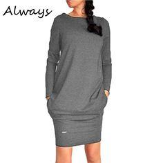 ホット女性固体短いミニdress長袖暖かいセーターdressジャンパープルオーバーdress 3色