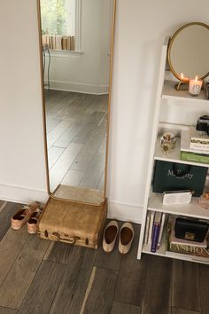 Decor Diaries: How to Create an Eclectic-Chic Gallery Wall Suitcase Decor, Famous French, Standing Mirror, Art Decor, Home Decor, Wardrobe Rack, Diaries, I Am Awesome, Gallery Wall