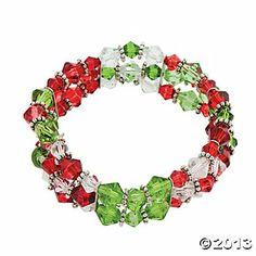 Stretchy Christmas Crystal Bracelet Project Idea