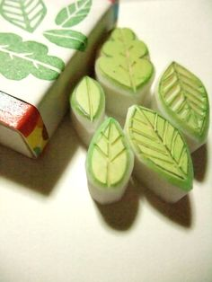hand carved leaf stamps -- the kids would have fun stamping leaves on a hand drawn tree