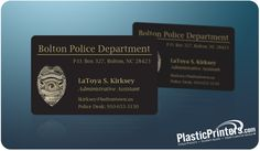 Military / Government plastic Business Card