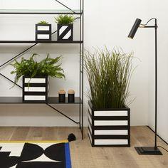 Hicks Planter, Small, Horizontal Stripes