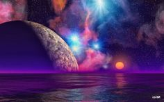 Alien Sunset #space #cosmic #Aliens