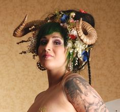 Maenad Ram Horn Headdress by idolatre on Etsy, $192.00