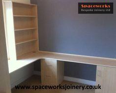 bespoke made to measure beech finish home office modern style desk designed to bespoke office desks