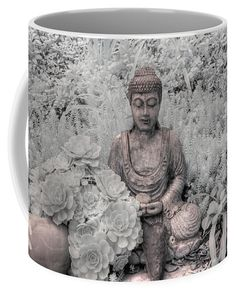 Mugs For Sale, Zen, Buddha, Infrared Photography, Thanks A Bunch, Tapestry, Statue, Unique Image, Kind Words