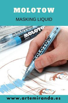 Watercolor Masking Fluid, Acrylics, Markers, It Works, Aqua, Stains, Dibujo, Easel, Sharpies
